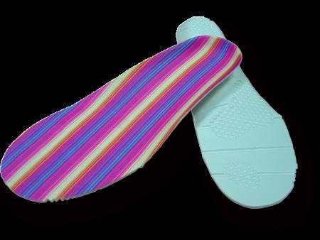 Colorful stripes foam insole